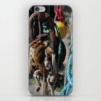 tool iPhone & iPod Skins featuring fisherman's tool by  Agostino Lo Coco