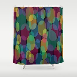 Oval Abstract Pattern Shower Curtain