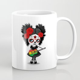 Day of the Dead Girl Playing Bolivian Flag Guitar Coffee Mug