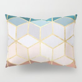 Golden and colorful pattern II Pillow Sham