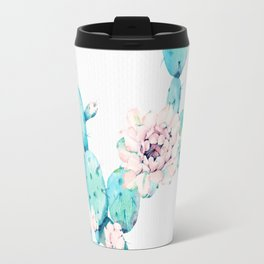 Desert Cactus Rose Travel Mug
