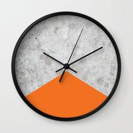 Concrete Arrow - Orange #118 Wall Clock