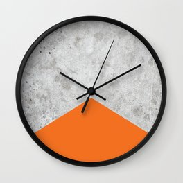 Geometric Concrete Arrow Design - Orange #118 Wall Clock