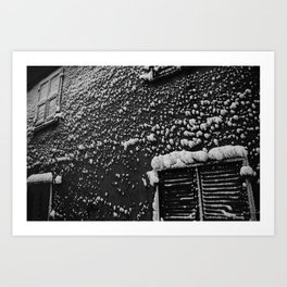 PRETTY PLEASE WITH SNOW ON TOP Art Print