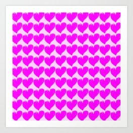 Valentine's hearts Art Print