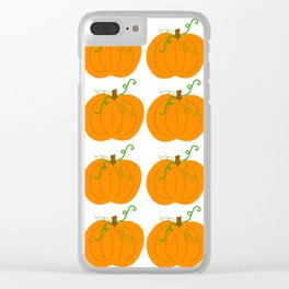 Pumpkin Patch Pattern Clear iPhone Case