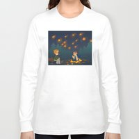 destiel Long Sleeve T-shirts featuring starry pond by cynamon