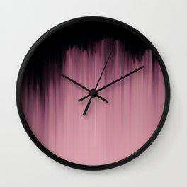 Dramatic Pink Wall Clock