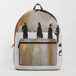 Faceless abstract, black silhouettes, fashion Backpack