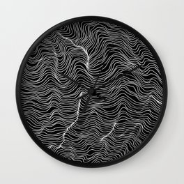 Inverted Waves Wall Clock
