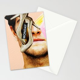 Man Collage Stationery Cards