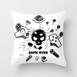 Video Game Over Throw Pillow