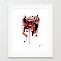 vampire Framed Art Prints featuring Vampire by Daniel Savoie