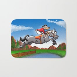 Olympic Equestrian Jumping Dog Bath Mat