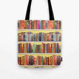 Christmas books antique vintage library Tote Bag
