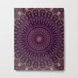 Detailed mandala in pink and purple tones Metal Print