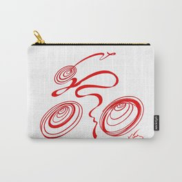 Bicycle - Red Ribbon Rider Carry-All Pouch