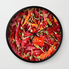 Sundried Chili Peppers Wall Clock