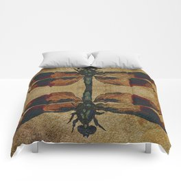 Dragonfly Mirrored on Leather Comforters