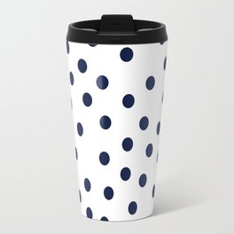 Simply Dots in Nautical Navy Travel Mug
