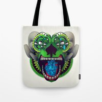 mythology Tote Bags featuring Artificial Mythology by Diligence