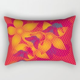 Radioactive butterflies Rectangular Pillow