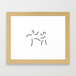 argue fight karate Framed Art Print