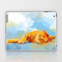 Cat Dream - orange tabby cat painting Laptop & iPad Skin