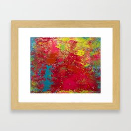 Tie-Dye Veins Framed Art Print