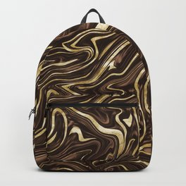 Brown Gold Marble #1 #decor #art #society6 Backpack