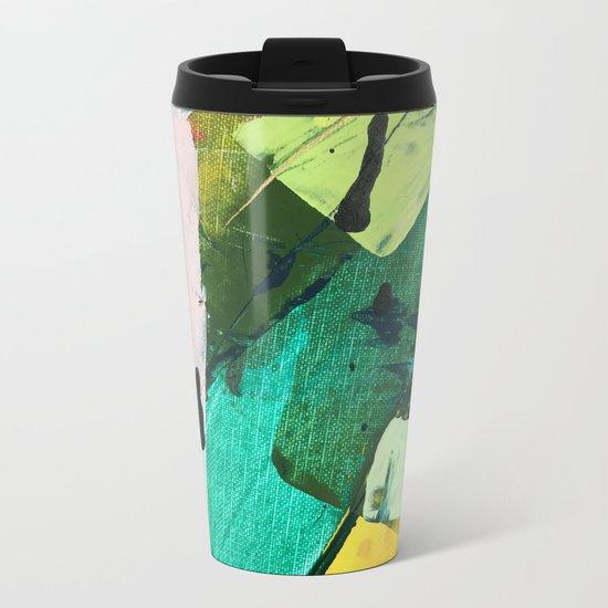 Hopeful[4] - a bright mixed media abstract piece Metal Travel Mug