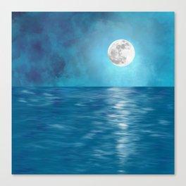 Mar Luna + Donation for Marine Conservation Canvas Print