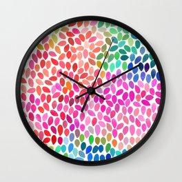 rain 5 sq Wall Clock
