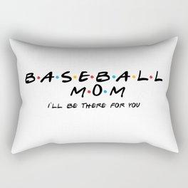 Baseball mom friends shirt. Baseball mom. Baseball mama. Love baseball. Friends tv show Rectangular Pillow