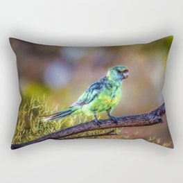 Mallee Ringneck Parrot Rectangular Pillow