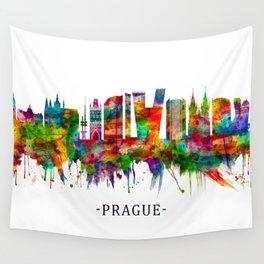 Prague Czech Republic Skyline Wall Tapestry