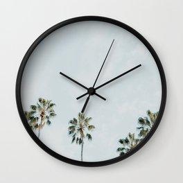 Palm Tree Row No. 1 Wall Clock