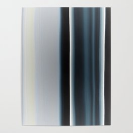 Vertical Blue and White Stripes Poster