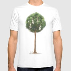 Bunny Tree Mens Fitted Tee MEDIUM White