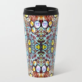 Colorful Gold Circles Pattern Travel Mug