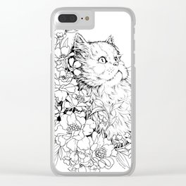 Color-Me Feline: Persian Clear iPhone Case