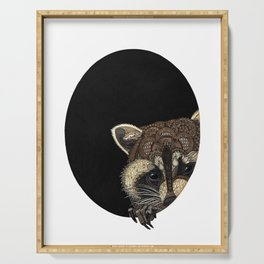 Socially Anxious Raccoon Serving Tray