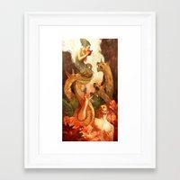 pomegranate Framed Art Prints featuring Pomegranate by Zelda Devon