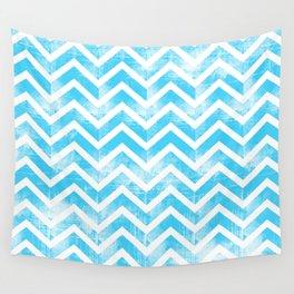 Maritime Aqua Teal Chevron Herringbone ZigZag - Mix & Match Wall Tapestry