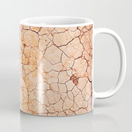 Cracked dry land pattern Coffee Mug