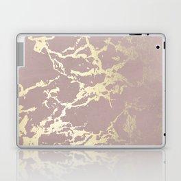 Kintsugi Ceramic Gold on Clay Pink Laptop & iPad Skin
