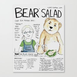 Bear Salad Canvas Print