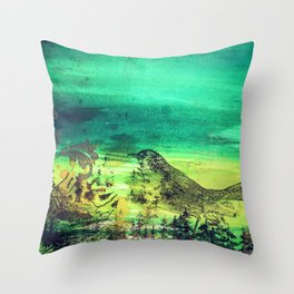 Nesting Season Throw Pillow