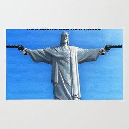 Redemption Jesus and Guns Rug