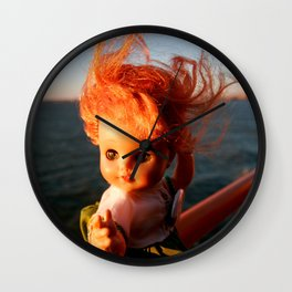 Ferry Girl Wall Clock